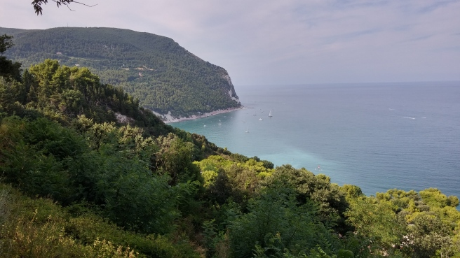 Sirolo - view of the coastline from the main square