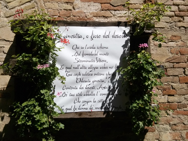 - Recanati - an extract from one of Giacomo Leopardi's poems -