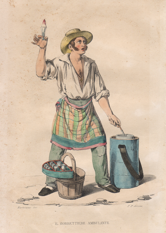 - Neapolitan ice-cream maker and street vendor - Image from: Wikimedia Commons
