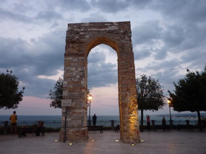 Numana - Arco di Torre at twilight